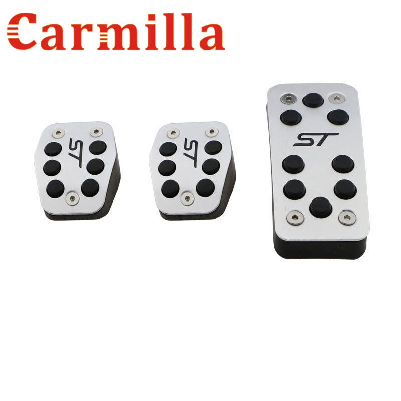 Carmilla Aluminum Car Pedal Brake Pedal Clutch Pedals for Ford Focus 2 MK2 Focus 3 4 Kuga ST 2005 - 2012 2013 2014 2015 2016