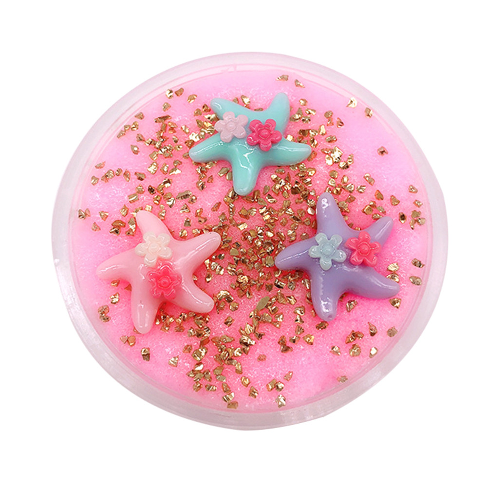Learning & Education Devoted 1 Box Diy Cotton Slime Clay Starfish Squishy Kids Clay Toy 3d Fluffy Foam Slime Scented Stress Relief Craft Mud Toy Antistress