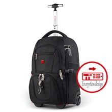 db4807bde9e1e Nowy wielofunkcyjny mężczyźni biznes marka toczenia torba na bagaż na  pokład vs podróży torba chłopiec wózek walizka bagażnik pl.