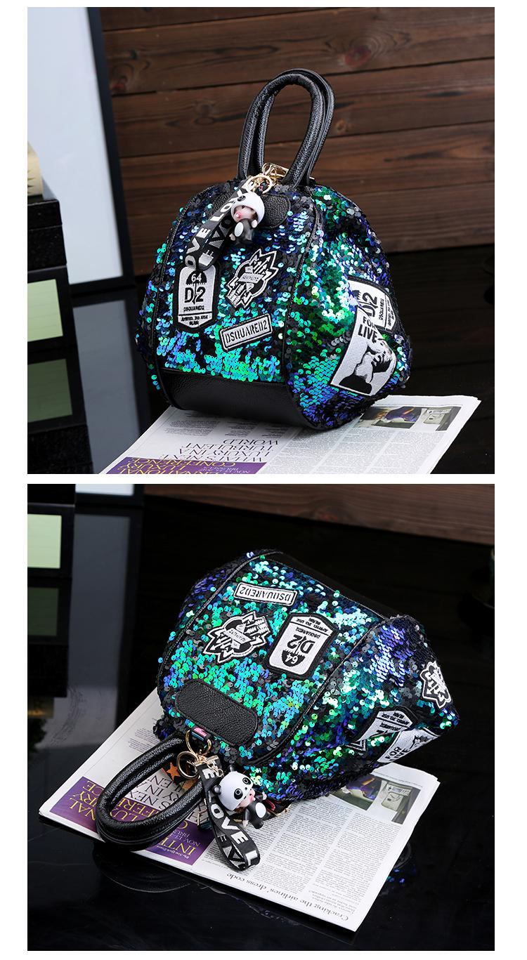 backpack women Fashion Women Bling Shiny Sequins Sparkling Shoulder Bags Larger Capacity Drawstring Bag backpack 84