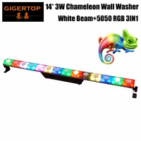 TIPTOP New Chameleon Pixel Led Wall Washer Light White Beam+RGB Wash 2IN1 Effect Plastic Cover Non Waterproof Power in/out