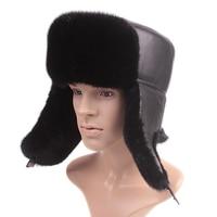 Male mink fur hat mink 100% lei feng wool cap quinquagenarian mink hair hat thermal