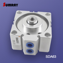 SUMRAY Pneumatic Cylinder SDA Type 63mm Bore 5/10/15/20/25/30/35/40/45/50 100mm Stroke Double Action Pneumatic Air Cylinder