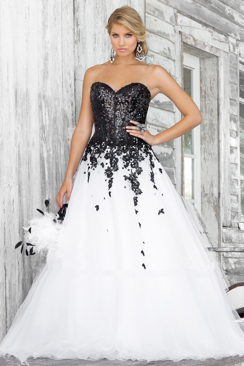 Compare Prices on White Black Wedding Dress- Online Shopping/Buy ...