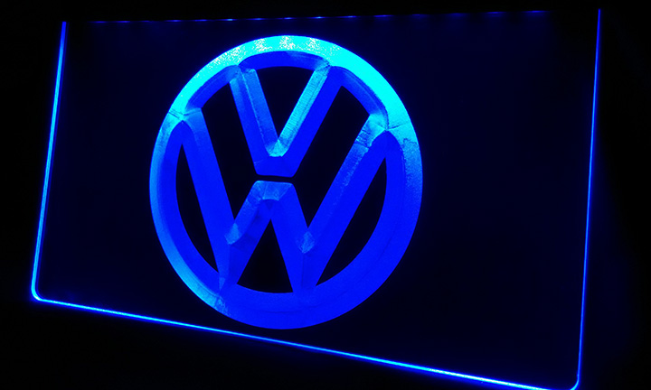 LS330-b Volkswagen-LED VW Car Logo Services Neon Light Sign Decor Free Shipping Dropshipping Wholesale 8 Colors To Choose