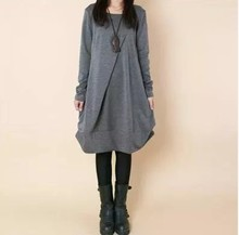 M-3XL 2016 Cotton Maternity Dress 2016 Autumn & Winter Fashion Loose Clothes for Pregnant Women Vintage Clothing for Pregnancy