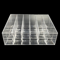 Clear Acrylic Lipstick Pen Storage Box Display Showcase Stand Cosmetic Organizer Makeup Carrying Case Holder Container