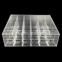 цена на Clear Acrylic Lipstick Pen Storage Box Display Showcase Stand Cosmetic Organizer Makeup Carrying Case Holder Container