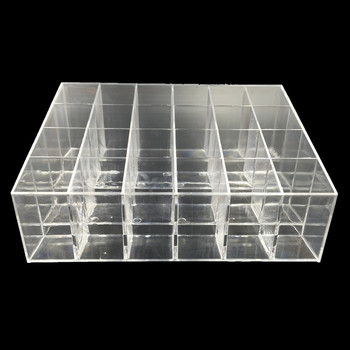 Clear Acrylic Lipstick Pen Storage Box Display Showcase Stand Cosmetic Organizer Makeup Carrying Case Holder Container 24 grids lipstick holder makeup lipstick display stand storage rack makeup organizer acrylic storage box