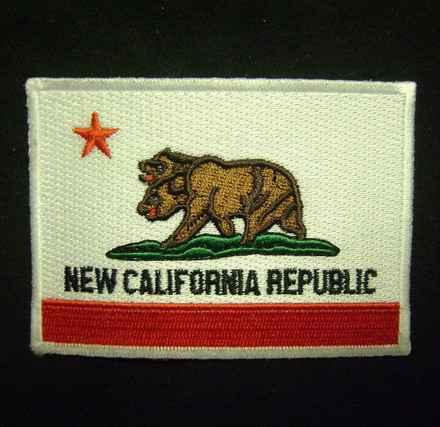 NEW CALIFORNIA REPUBLIC FLAG COSPLAY FALLOUT EMBROIDERED IRON ON PATCH MADE  USA a3985da9a434