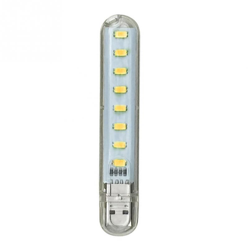 Mini USB DC5V 8 LED Lamp Camping Computer Lighting For PC Laptop Portable Night USB Gadget Mobile Power
