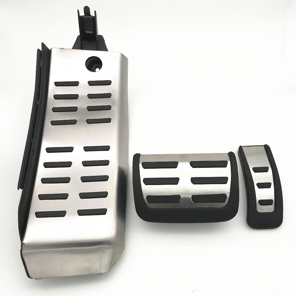 Stainless Steel Pedals Fuel Brake Footrest Pedal Automatic For Audi A6 A6L 2009 2010 2011 2012