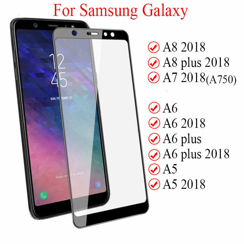 Scratch Proof Ultra Thin Protective Glass For Samsung Galaxy A7 A8 A6 A5 Plus Screen Protector Glass for Galaxy J8 J7 J6 J4 Plus