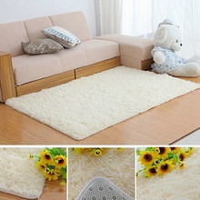 Modern Candy Color Soft Anti-Skid Carpet Flokati Shaggy Rug Living Bedroom Floor Mat(China)