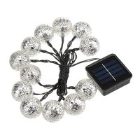 For Garden Patio Party Wedding 12 LED String Light Solar Waterproof Portable Christmas Light White Warm