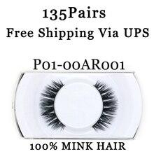 YADERS False Eyelashes 3D Mink Lashes Makeup Tools Fake Eyelashes 135 Pairs EyeLashes Free Shipping Via UPS AAAAH
