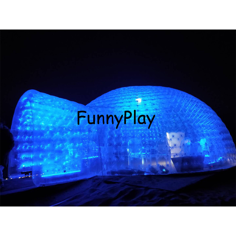 giant party bubble house,double layer transparent bubble family wedding party bubble room for camping ,inflatable pvc dome tent