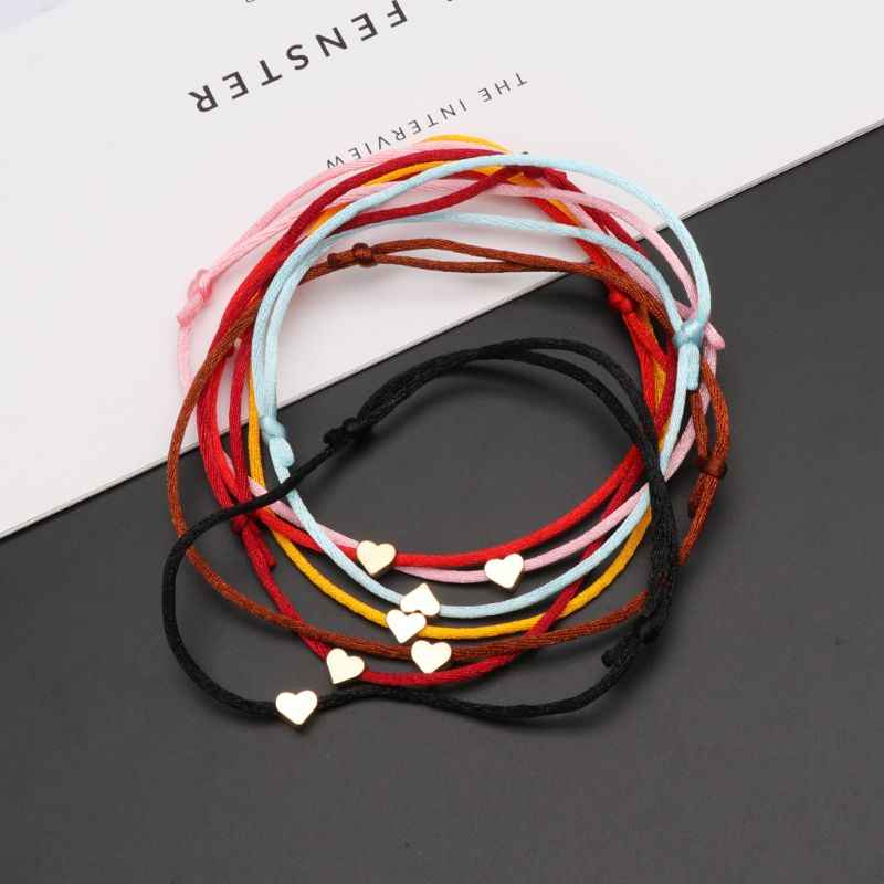 Lucky Kabbalah Heart Charm Weave Red String Love Bracelet Friendship Jewelry