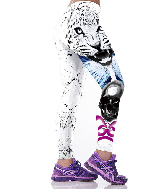 New Arrival Clothes Punk Rock Fitness Clothing Spandex 3D Printing Elastic Women Quick-drying Leggings