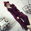 [soonyour] 2016 New Arrivals Fashion autumn and winter Korean loose plus size head knit lady thickening two suits AS11670