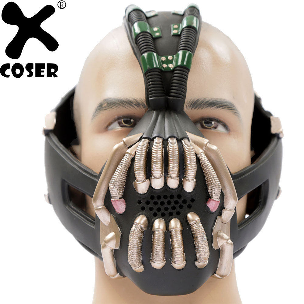 XCOSER Bane Cosplay Mask Batman The Dark Knight Rises Cosplay Costume Prop Full Adult Size Halloween Cosplay