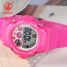 2019 Hot Sale New Sport Children Electronic Digital Sports Clock Student LED Waterproof Fashion Wrist Watch Outdoor Kids Watches(China)