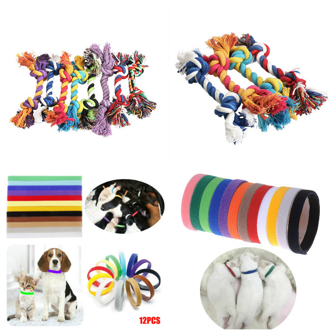 Hot Chewing Knot Cotton Rope Bone Chew Tug Toy for Pet Doggy LFD