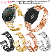 22mm Aluminium Alloy bracelet For Samsung Gear S3/Galaxy 46mm smart watch wristband for HUAWEI GT replacement strap