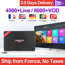 1 Year Italia Arabic French IP TV Subscription Leadcool Pro Full HD SUBTV RK3229 4K H.265 Decoder 2.4G WIFI IPTV 1G 8G стоимость