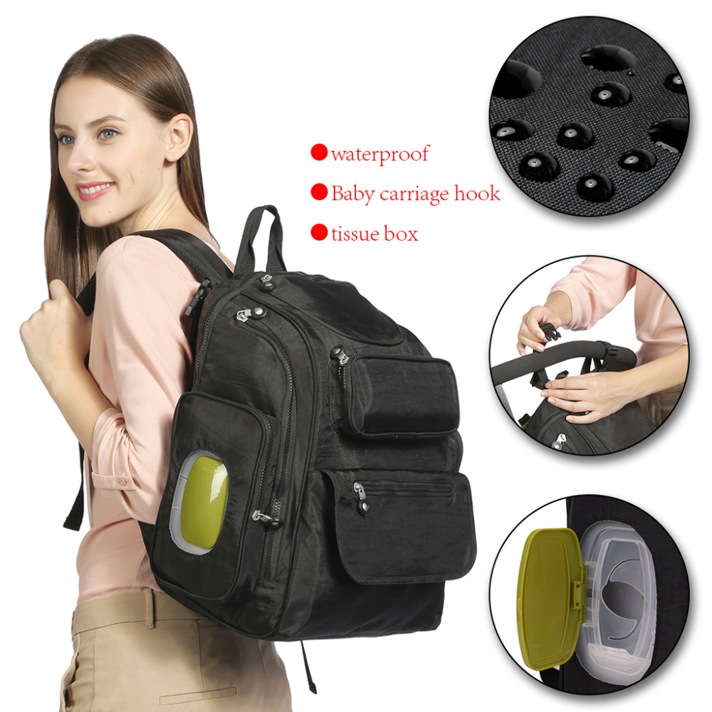 ABOUTBABYLarge Capacity Waterproof Nappy Stroller Bags Maternity Travel Backpack