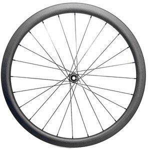 Image 4 - 700c strada ruote a disco 50x27 millimetri tubeless Freno A Disco della bici della strada ruote NOVATEC 100x12mm 142x 12mm Center lock strada ruota a disco in carbonio