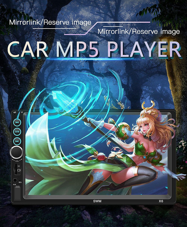 X6 7 inch 2Din Bluetooth4.0 Stereo Car Multimedia MP5 Player 12V FM Radio Handsfree Auto Support U Disk Remote Controller