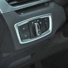 Автомобиль ABS передняя фара кнопка включения Обложка отделка наклейка для BMW X1 F48 2019X2 F47 аксессуары Тюнинг автомобилей