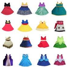 Новинка 2018 года, платье принцессы для девочек, платье Ариэль, Русалочка, Белль, Моана, платье Микки, Минни, Анна, Эльза, детские платья Джесси вечерние праздничные платья