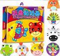 10 unids/caja Niños hechos a mano de BRICOLAJE de papel de dibujos animados juguetes/Niños Niño parvulario arte animal juguetes educativos