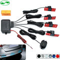 16mm Car Parking Assistance Flat Sensor Buzzer Backup Radar Detector System Reverse Sound Alert, 4 Flat Sensors 6 Color