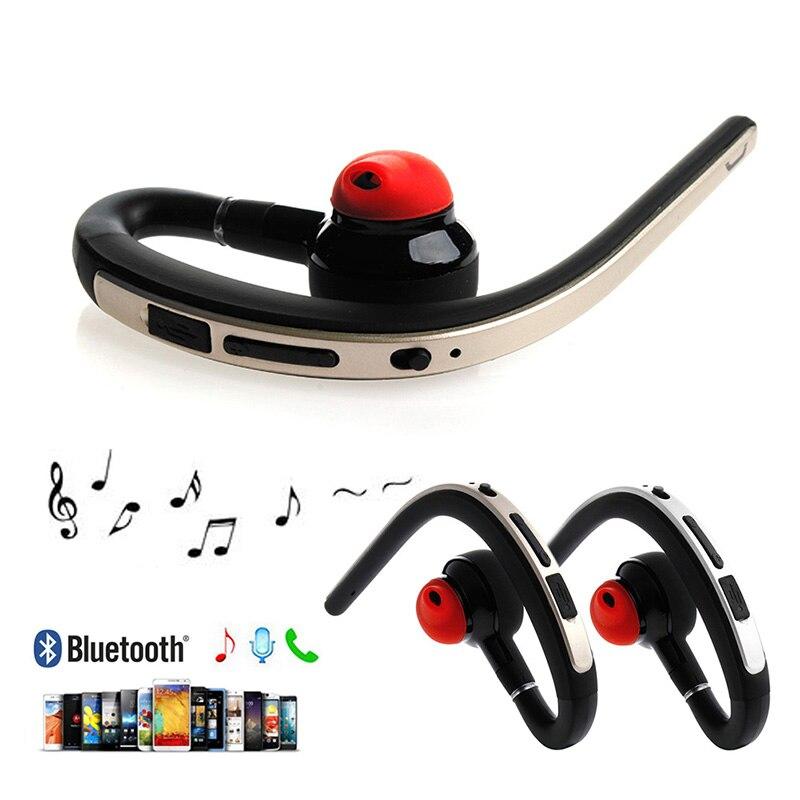 JINSHENGDA 1SET Wireless Bluetooth V4.1 Single-ear Headset Stereo Earphone Headphones for Phone