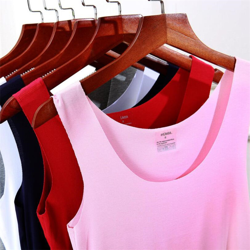 2019 Summer Style Women   Tank     Top   Camisole Cotton Slim Ladies Thin Vest Bralette Tight sleeveless vest T-shirt Black