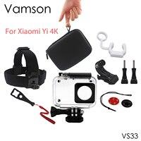 Xiaomi Yi 4K Accessories Set Xiao Mi Yi 2 Waterproof Housing Case Head Strap For Xiaomi