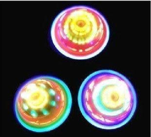 Luminous spinning top flash spinning top wipe night market hot-selling