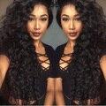 8А Плотность 150% Монгольский Вьющиеся Волосы Человека Full Lace Парики для Черных Женщин Толщиной Culry Девственные Волосы Glueless Фронта Шнурка парики