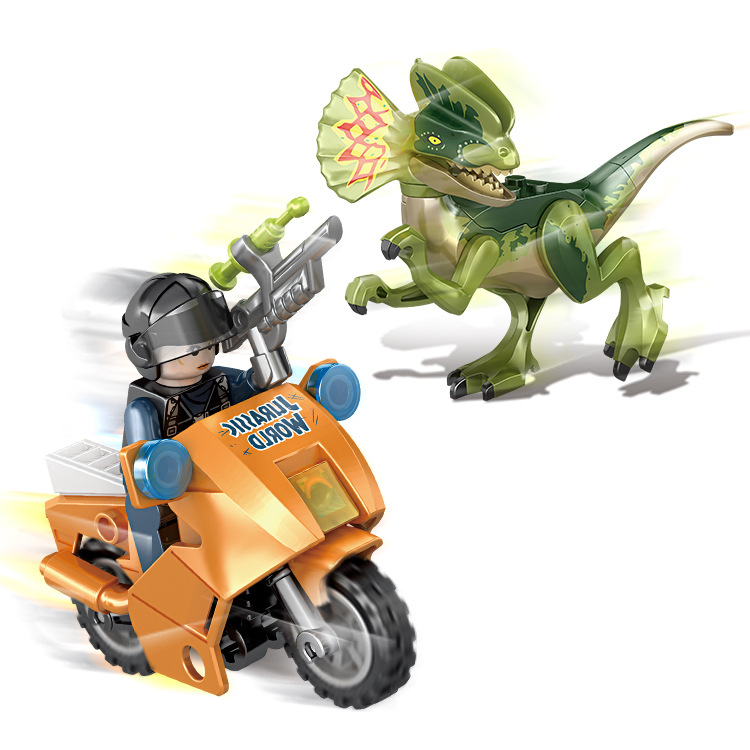 Jurassic World Park Dinosaur 4 In 1 Set Pterosaur Stygimoloch Dinosaur Figures bricks Toys Children Gift in Blocks from Toys Hobbies