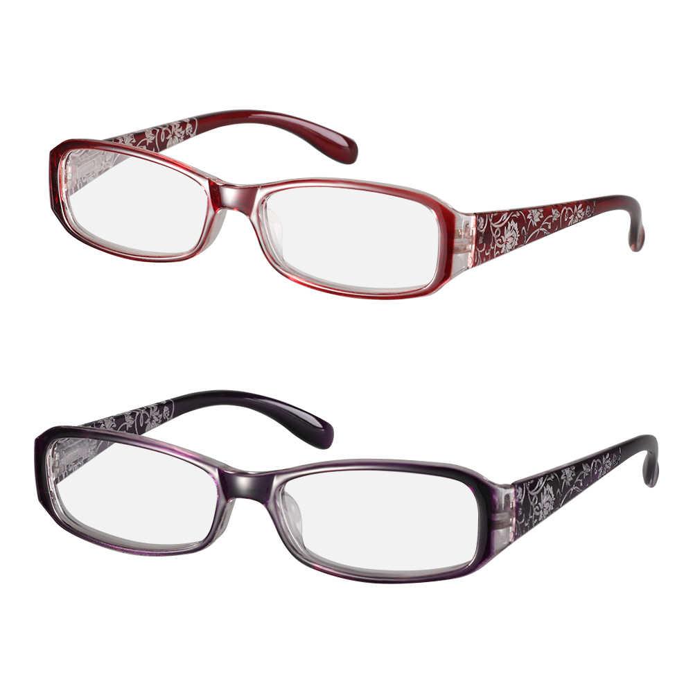 2020 sıcak moda kadın bahar menteşe çiçek baskı reçine okuma gözlüğü bayan gözlük koruyucu gözlük presbiyopik + 1.0 ~ + 4.0