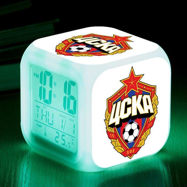 Pfc Zska Moskau Fussball Team Fuhrte Alarm Uhren Russland Team Digitale Wecker Leucht Lampen Uhr Kinder Geschenke
