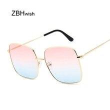 Retro Big Square Sunglasses Women Vintage Brand Shades Progr