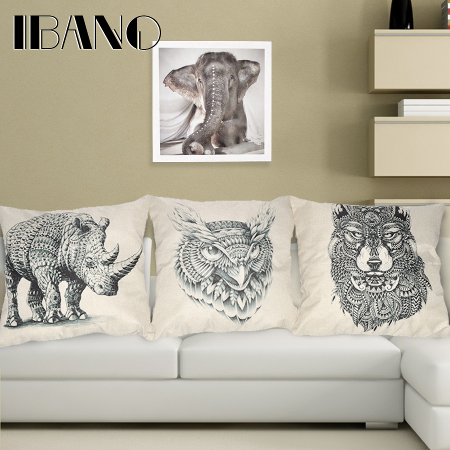 2016 Animal Decorative throw Pillows case Linen Cotton Cushion Cover Creative decoration for ...