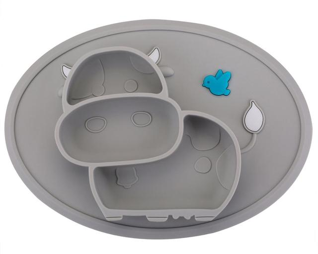 Cow Shaped Silicone Baby Plate