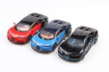 New 1:32 model simulation Baby toy Alloy Sports Car Sound Light Pull Back Toy Car For baby toys cars for Bugatti chiron(China)