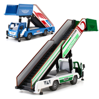 Alloy Diecast Boarding Vehicle 1:43 Aviation Road Rescue Folding Stair Telescope Safe Ladder Truck Model Collection for Kids Toy