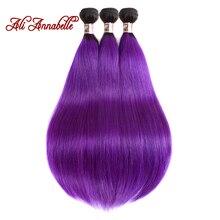 ALI ANNABELLE HAIR Brazilian Ombre Hair Straight 3 Bundles 1